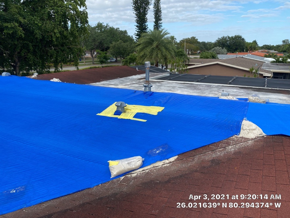Hollywood, FL - Gaf Timberline HDZ shingle and flat reroof are signed up in Hollywood, FL by Mike Wilde of Earl Johnston Roofing