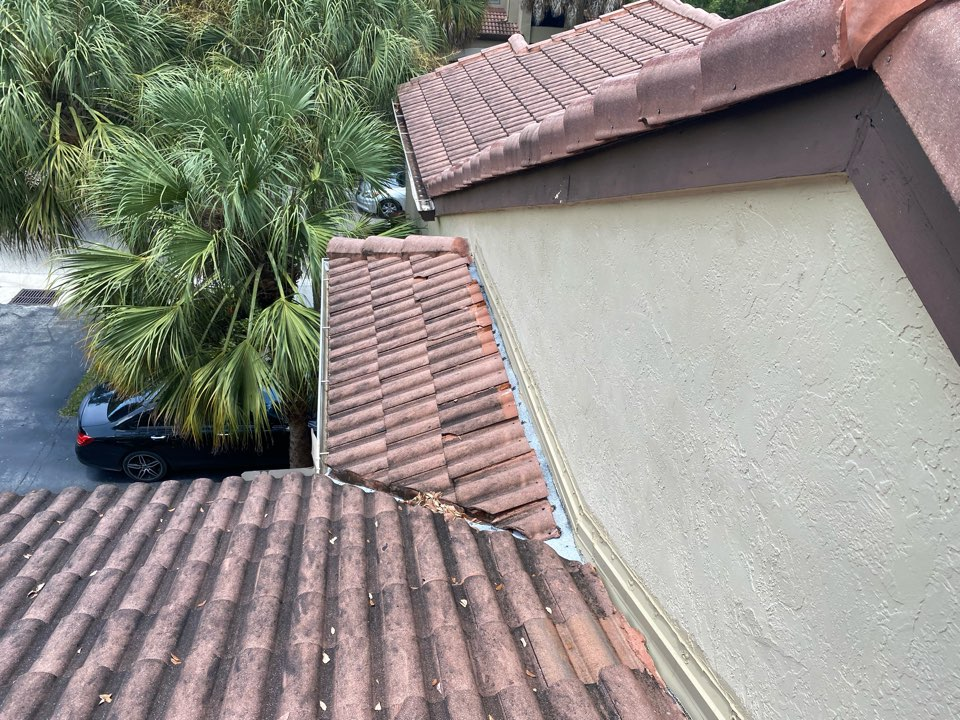 Tile roof leak repair estimate in Weston Florida by Mike Wild and Earl Johnston roofing