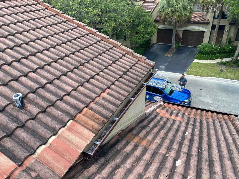 Tile roof replacement estimate in Weston, FL by Mike Wilde and Earl Johnston Roofing