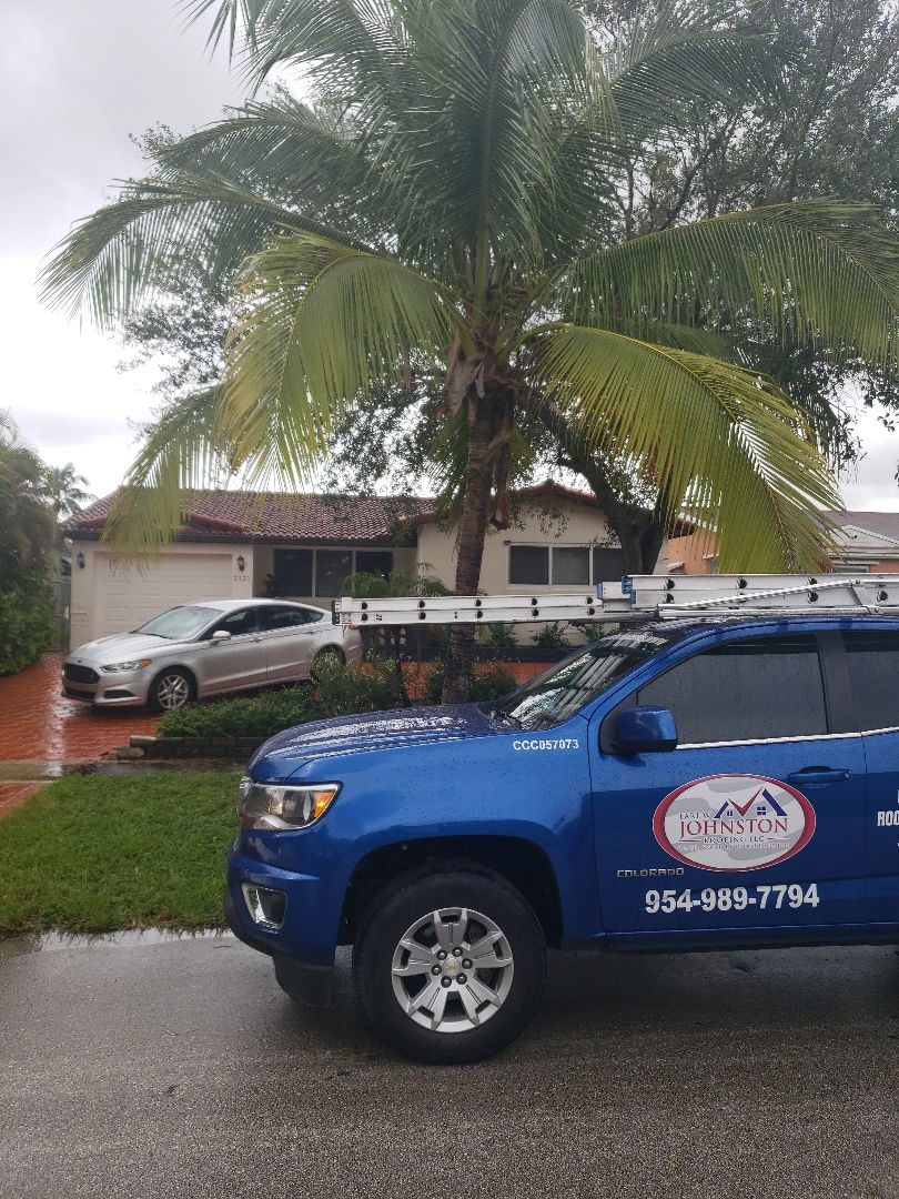 Hollywood, FL - Eagle Malibu tile reroof estimate by AJ from Earl Johnston Roofing Company