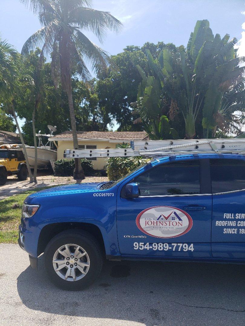 Fort Lauderdale, FL - Shingle roof leak repair estimate by AJ from Earl Johnston Roofing Company