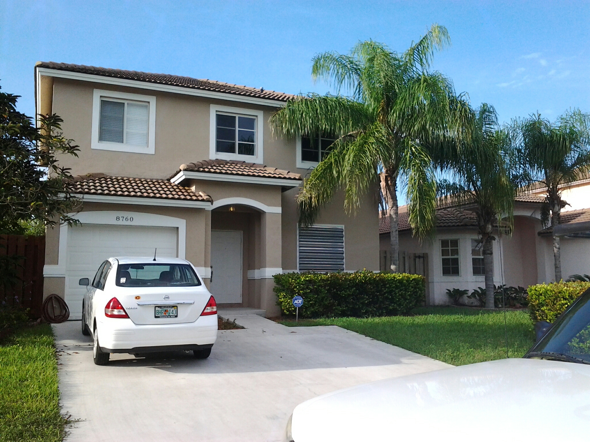 Cutler Bay, FL - Tile roof repair in the city of Cutler Bay Florida done by Earl W Johnston roofing company repair technicians are Tony and Jose