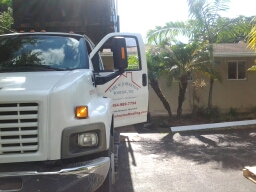South Miami, FL - Starting a 10sq flat deck in south miami fla, by Earl W. Johnston roofing.