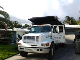 South Miami, FL - Starting a 27sq tile reroof in Lauderdale by the sea, by Earl W. Johnston roofing