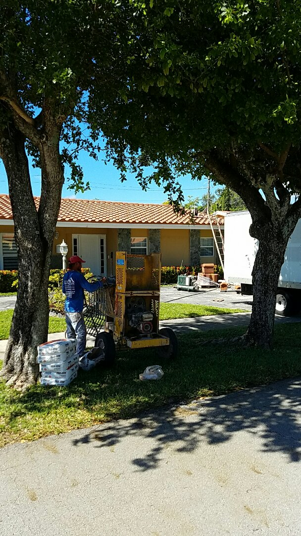 Aventura, FL - Completing a entegra roof tile Bella tile in North Miami