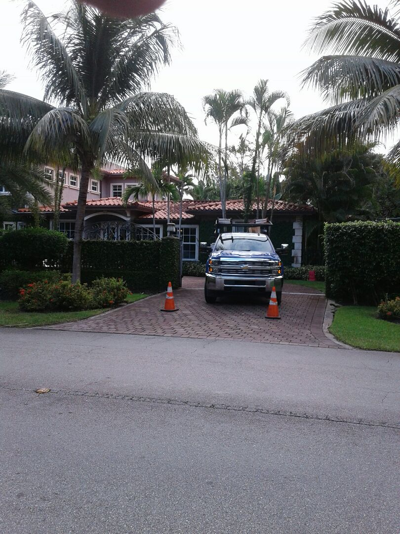 Coral Gables, FL - Roof tile repair in the City of Coral Gables this repairs being by Earl W Johnston roofing company Tony Jose are your repair technicians