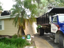 Palmetto Bay, FL - Starting a 32sq tile reroof in palmetto bay fla, by Earl W. Johnston roofing.