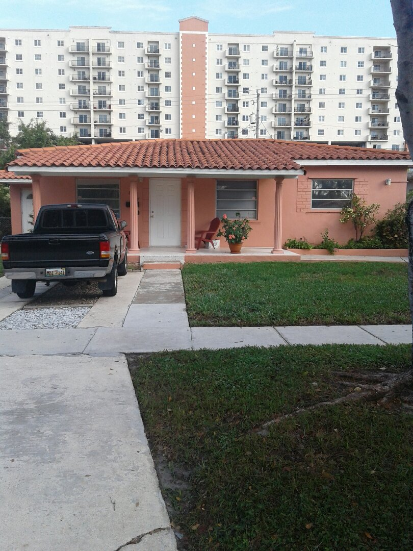 West Miami, FL - Roof repair in the city of Miami Florida this repair is being done by Earl W Johnston roofing company Tony and Bill all your repair technicians