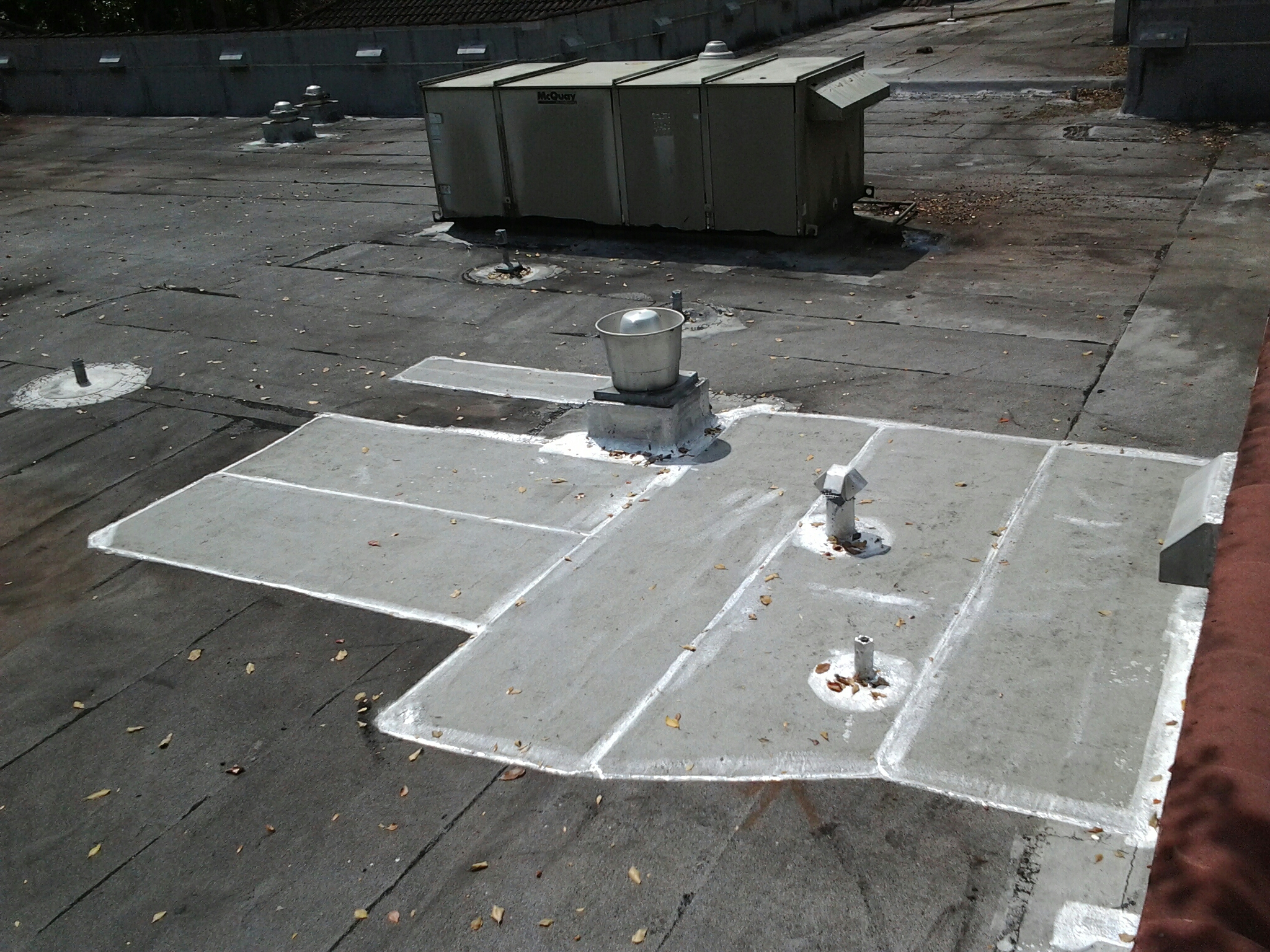 Boca Raton, FL - Mike and Earl Johnston roofing completed flat roof repair.