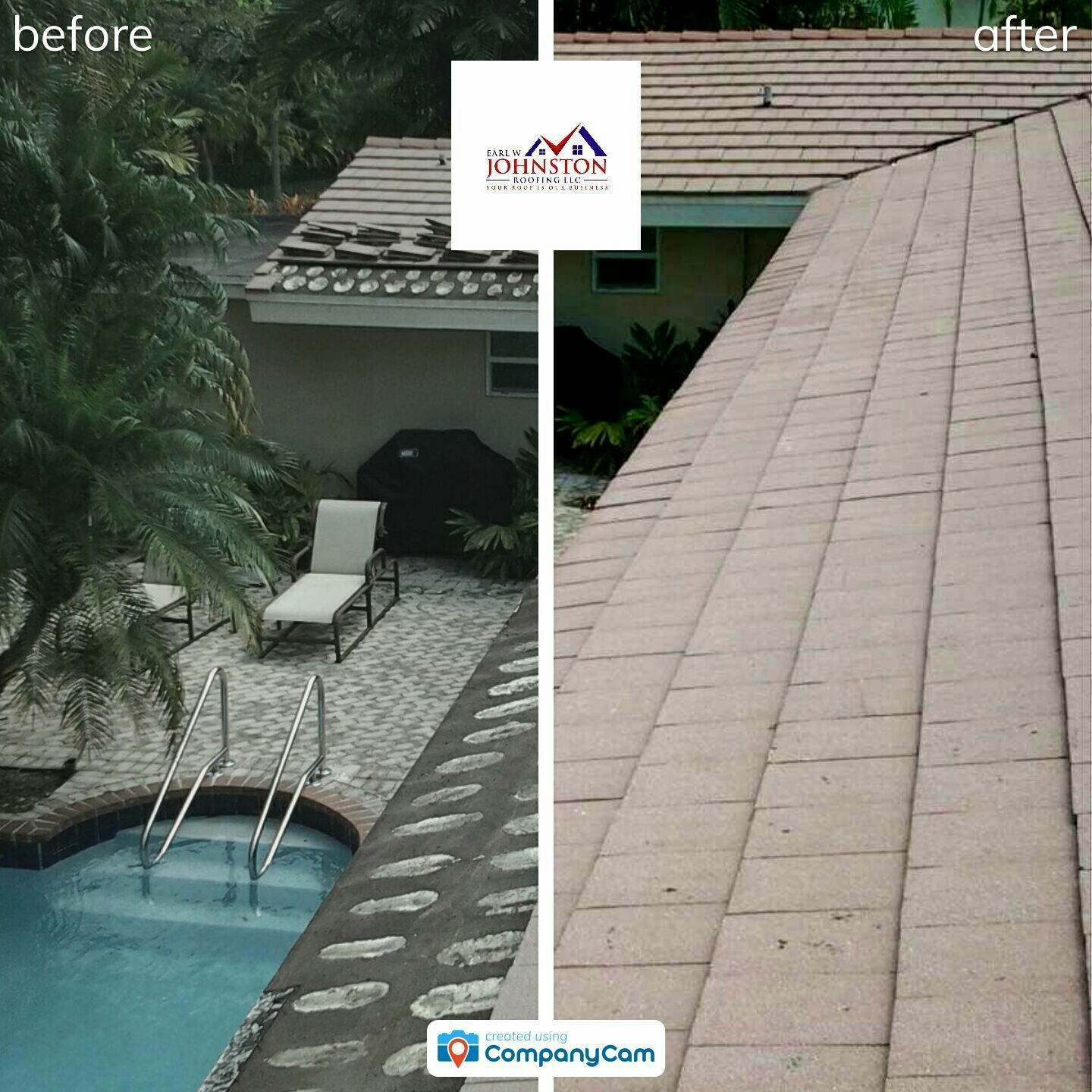 Pinecrest, FL - Mike and Earl Johnston roofing completed a tile repair