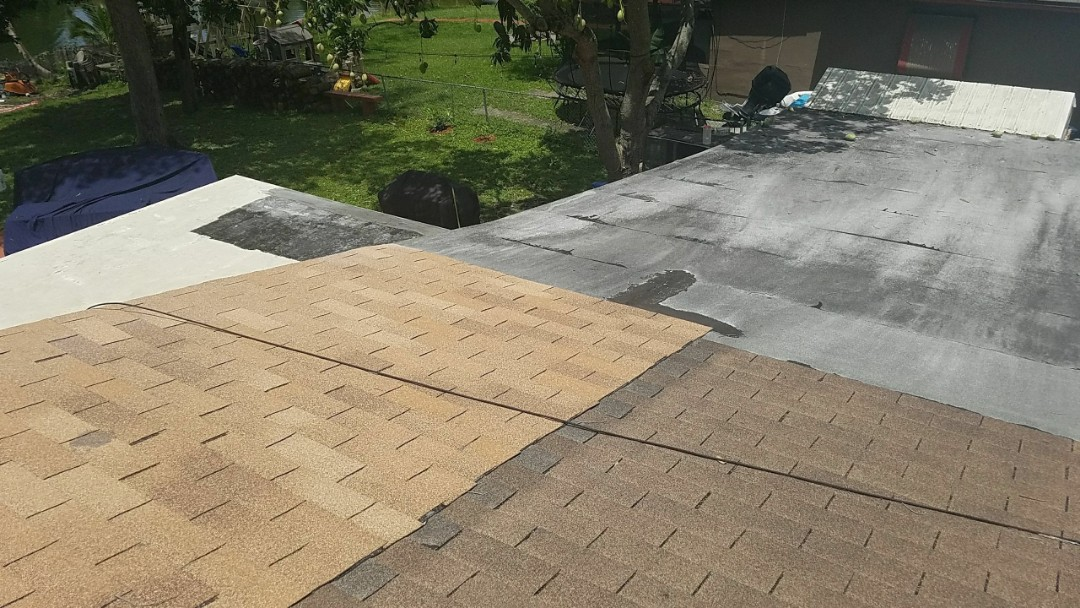 GAF TIMBERLINE HD SHINGLE AND FLAT REROOF ESTIMATE IN WEST PARK,FL
