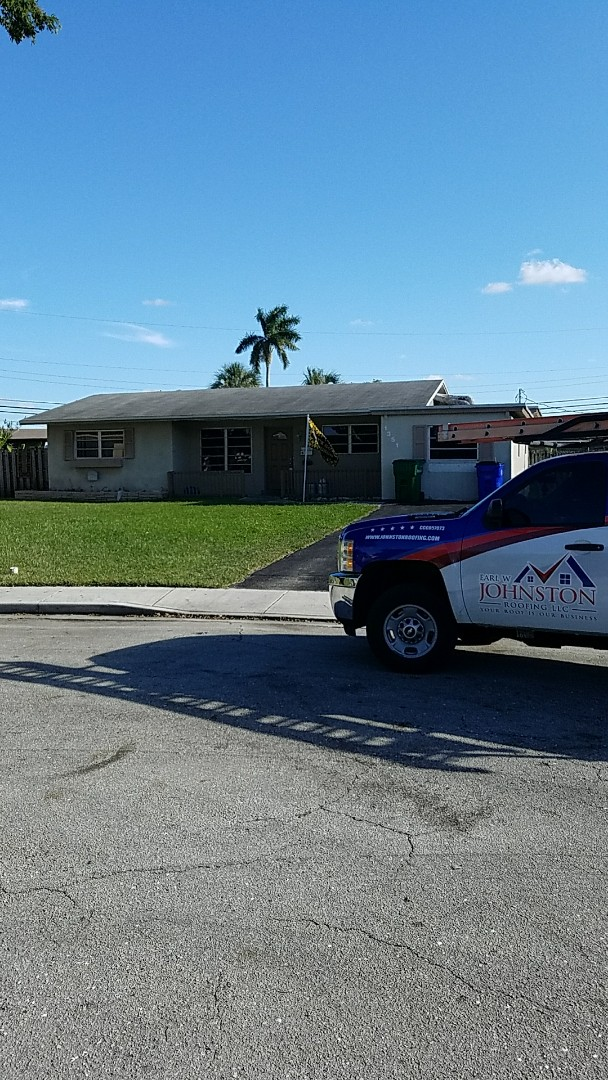Coral Springs, FL - GAF Timberline HD shingle with Mineral Cap sheet flat roof estimate done by AJ from Earl Johnston Roofing