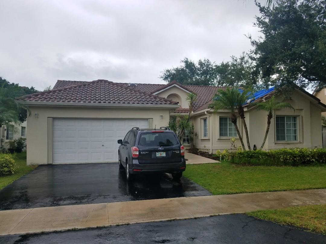 Weston, FL - Tile reroof estimate in Weston, FL