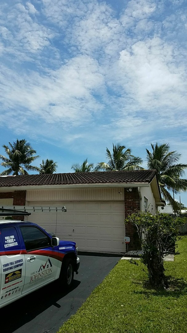Miami, FL - Tile roof repair  estimate done by AJ with Earl Johnston Roofing