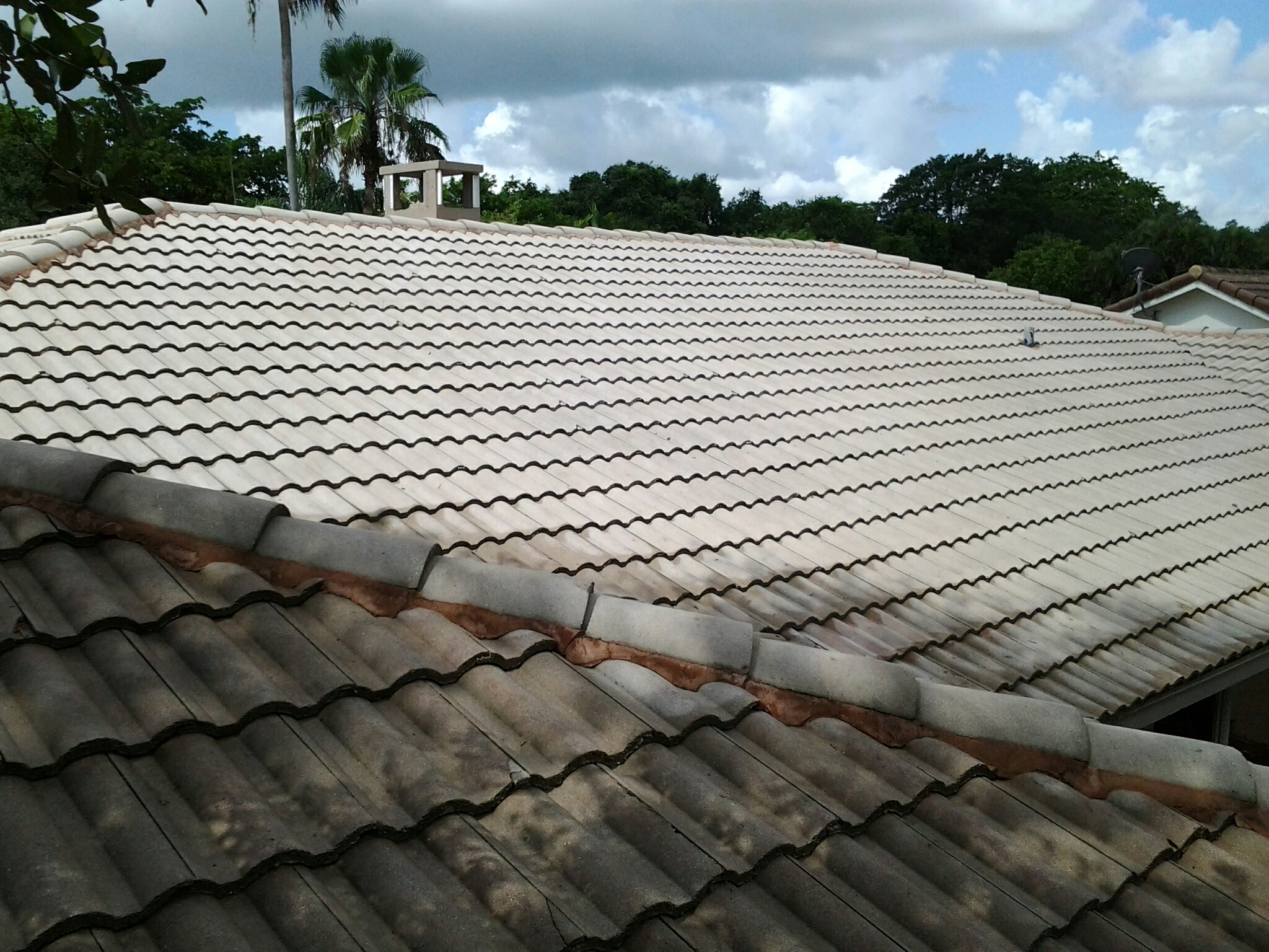 Hollywood, FL - Roof a side applied by Gary and Brandon