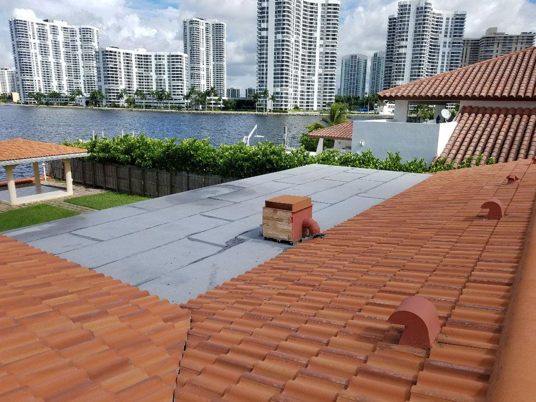 Sunny Isles Beach, FL - Tile roof repair estimate in Sunny Isles, FL