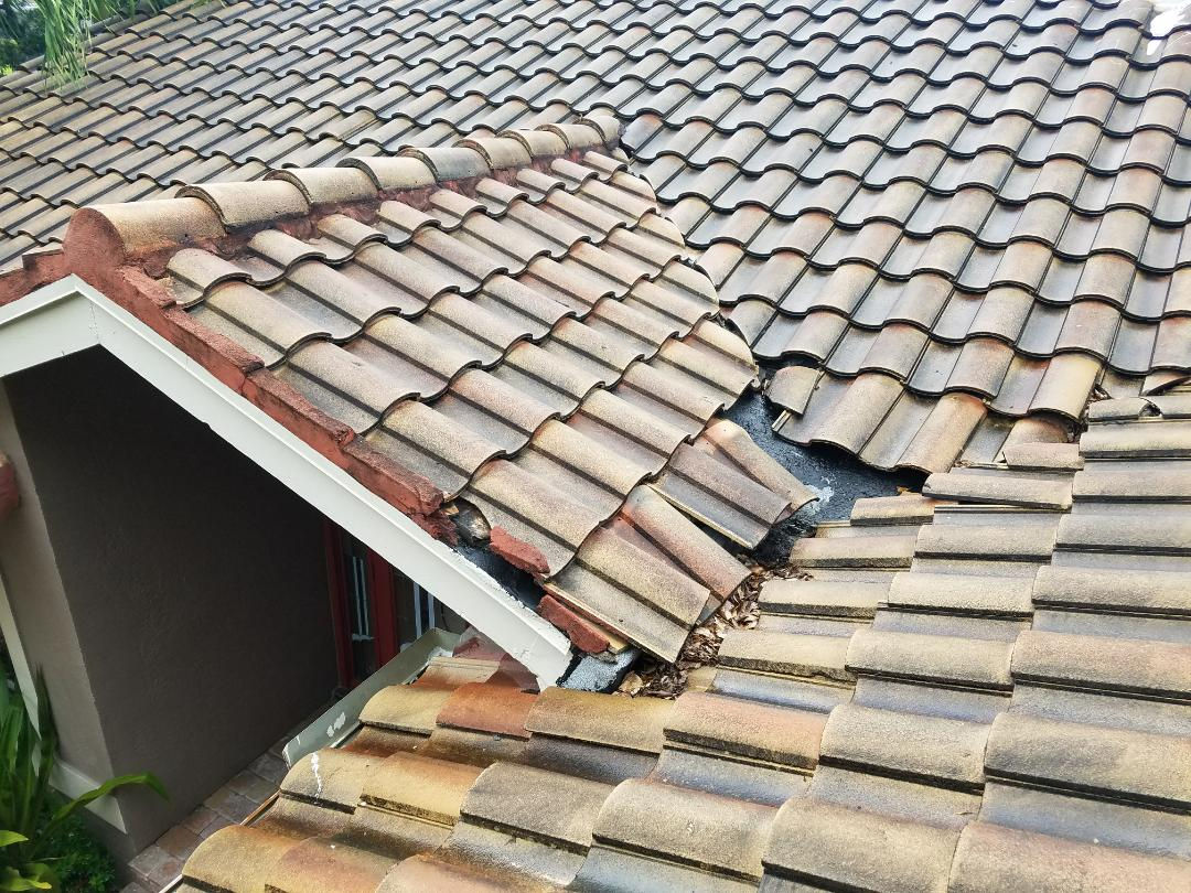 Coral Springs, FL - Tile roof repair estimate in Coral Springs, FL