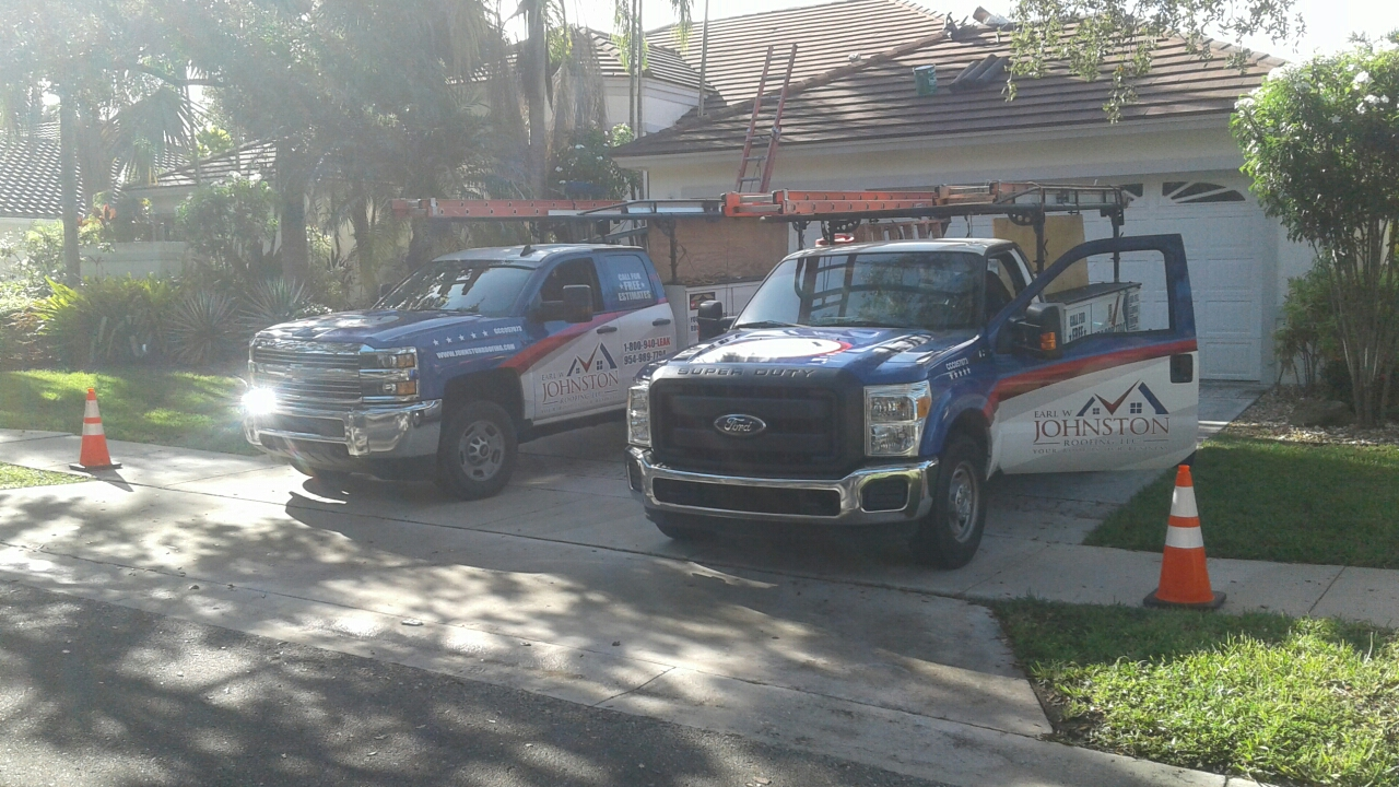 Weston, FL - Mike and Earl Johnston roofing doing a tile repair