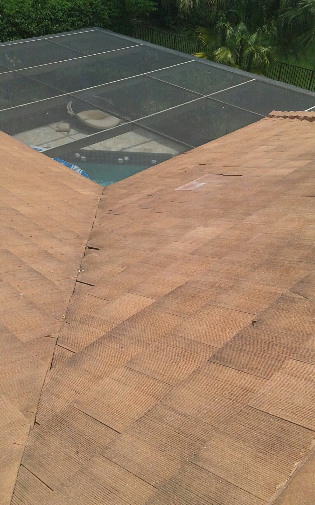 Weston, FL - Mike and Earl Johnston roofing completed a tile repair.