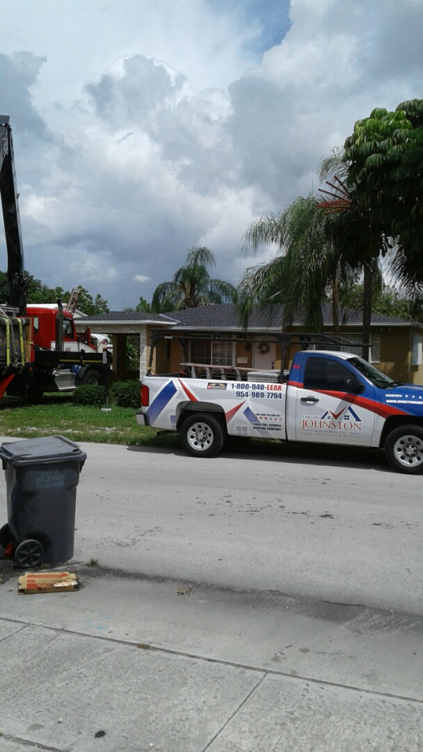 Miami, FL - Tin cap roof anchor sheet ready for inspection and abc supply delivering the gaf timberline shingles to be installed by earl w Johnston roofing llc