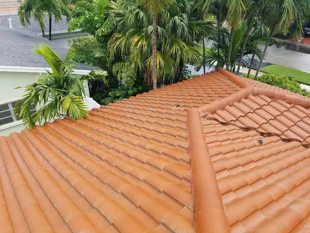 Miami, FL - Tile roof repair estimate in Miami, FL