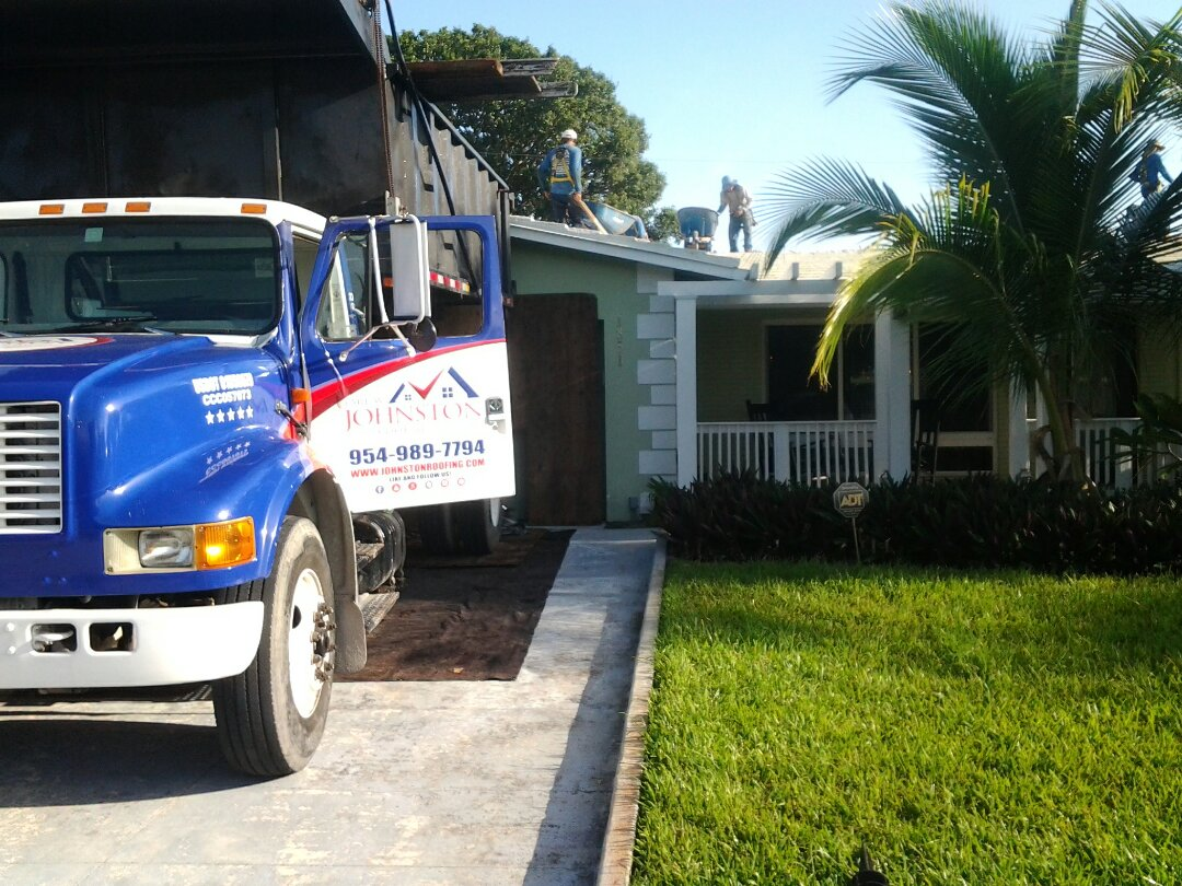 Fort Lauderdale, FL - Starting a 27sq tile reroof in Fort Lauderdale, by Earl W. JOHNSTON ROOFING.