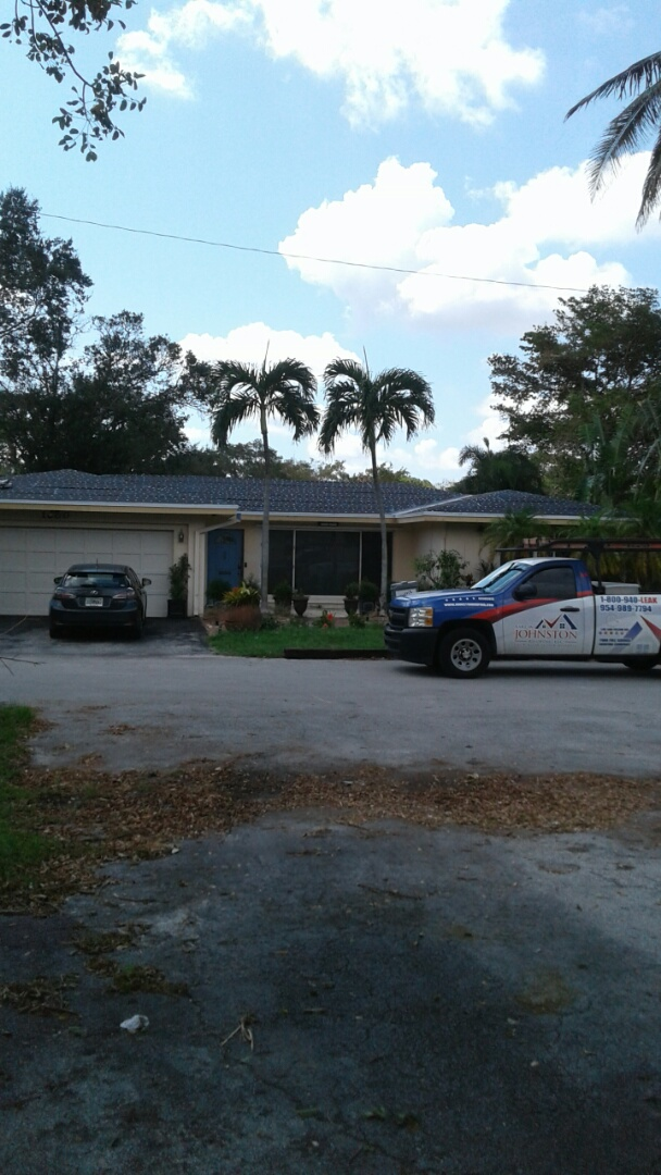 Fort Lauderdale, FL - Tin cap roof anchor sheet passed inspection ready for the gaf timberline shingles to be delivered