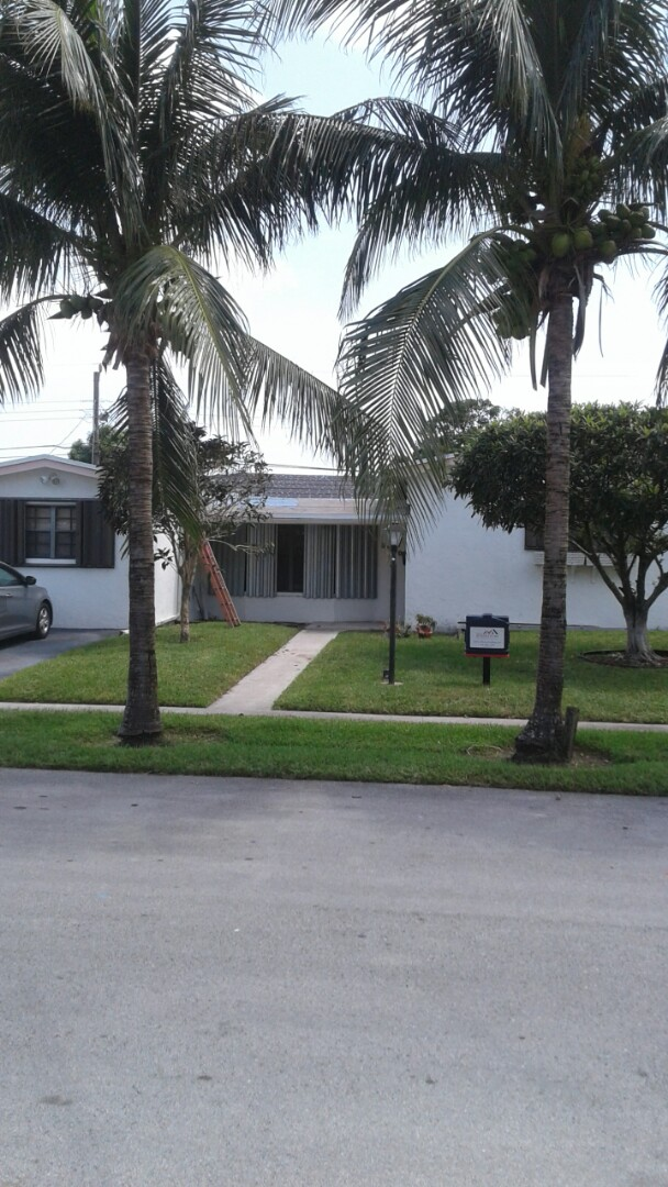 Lauderdale Lakes, FL - Tin cap roof anchor sheet and #90 tile underlayment in progress passed inspection