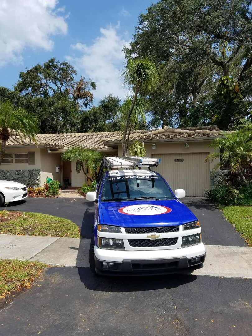 North Lauderdale, FL - Flat roof repair estimate done by AJ from Earl Johnston Roofing