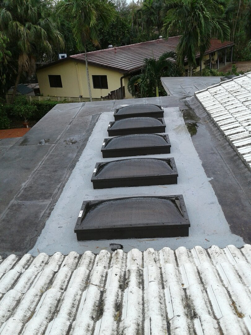 Biscayne Park, FL - Finished  5 new birdview skylights installed by earl w Johnston roofing llc