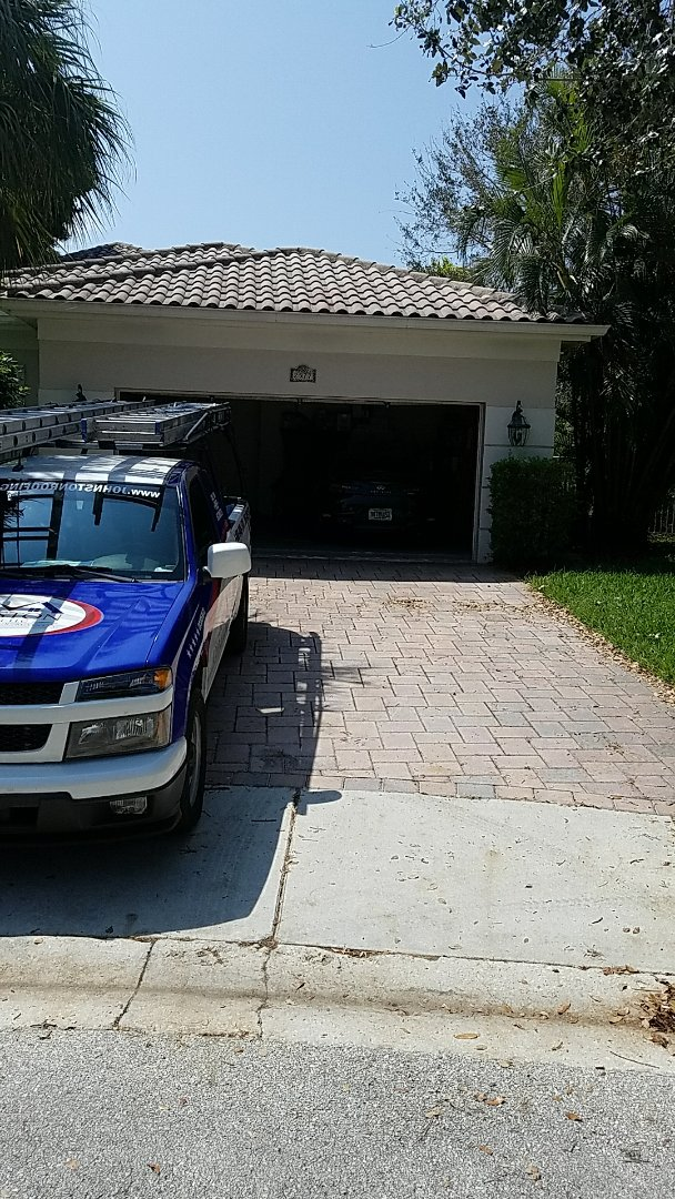 Weston, FL - Tile roof leak repair estimate done by AJ from Earl johnston roofing
