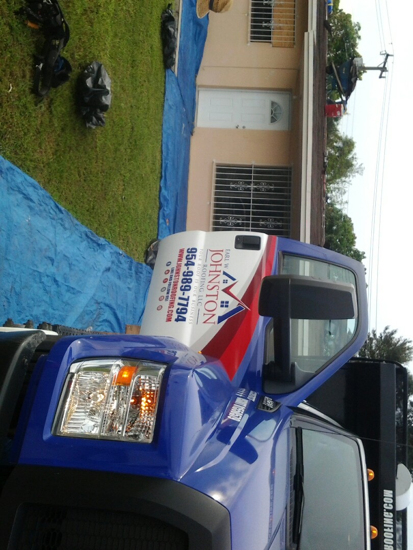 Opa-locka, FL - Starting a 18sq shingle reroof in Miami Gardens, by Earl W. JOHNSTON ROOFING.