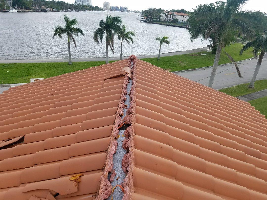 Hollywood, FL - Hurricane Irma roof damage repair estimate in Hollywood, FL