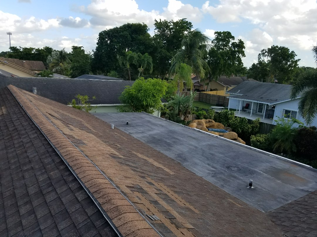 GAF TIMBERLINE HD SHINGLE and flat roof replacement estimate in Copper City,FL