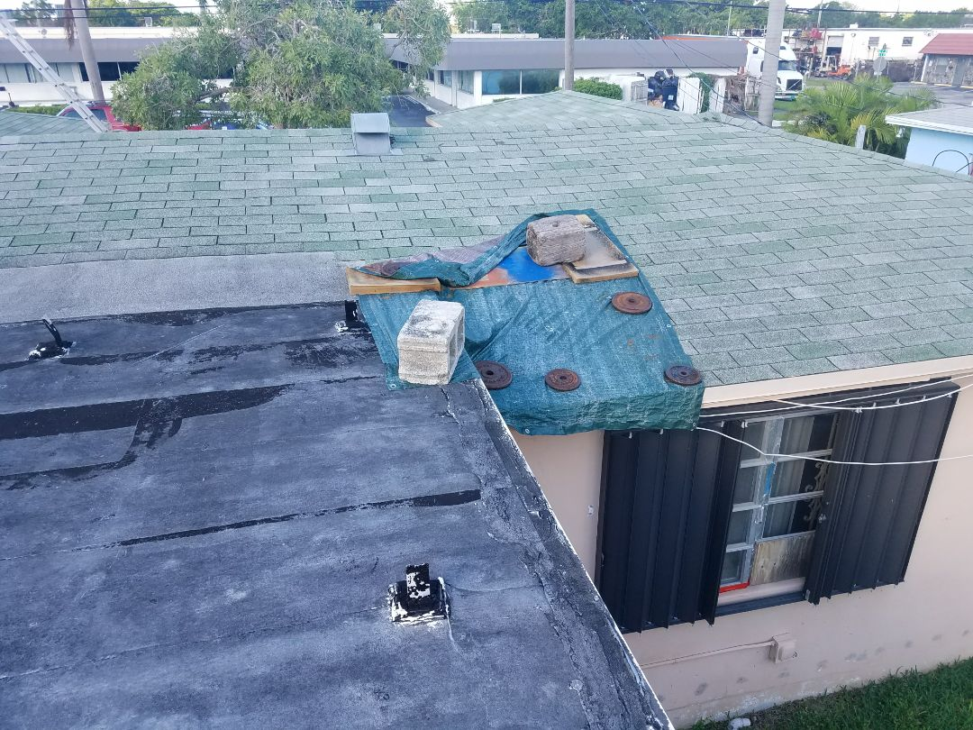 Hallandale Beach, FL - Shingle repair estimate in Hallandale Beach Florida
