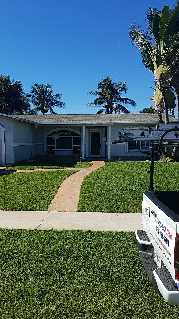 Lauderdale Lakes, FL - 25 years warranty shingle roof replacement proposal by Earl Johnston Roofing