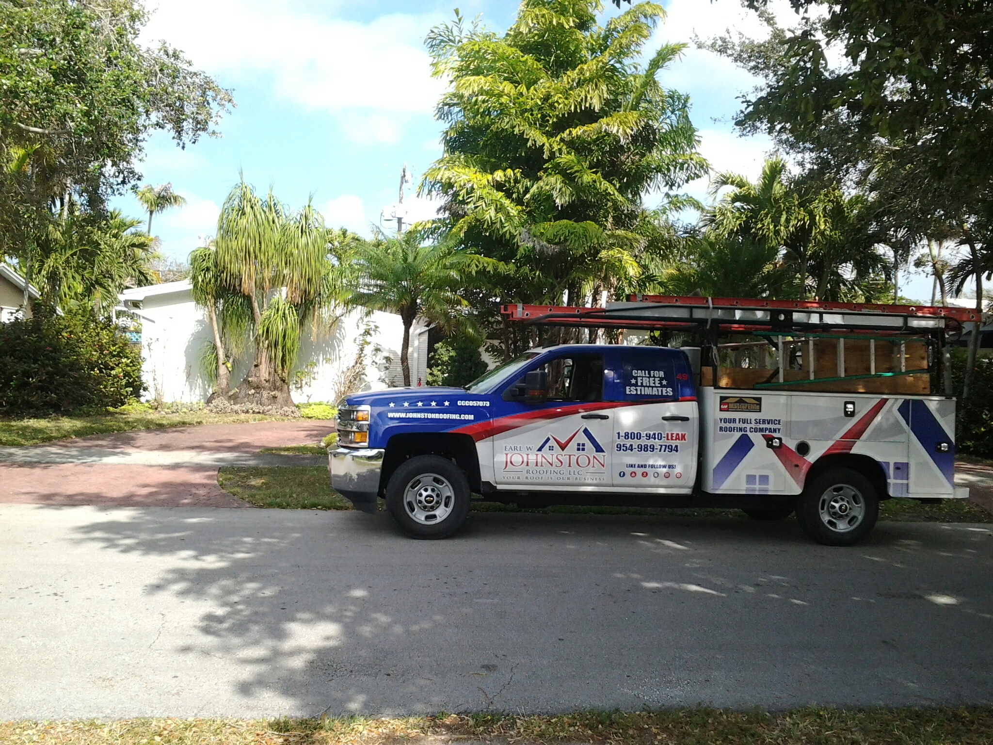 Bal Harbour, FL - Shingles roof repair in the city of miami fl this repair is being done by Earl w Johnston roofing company Jos? end Duane are you repair technicians