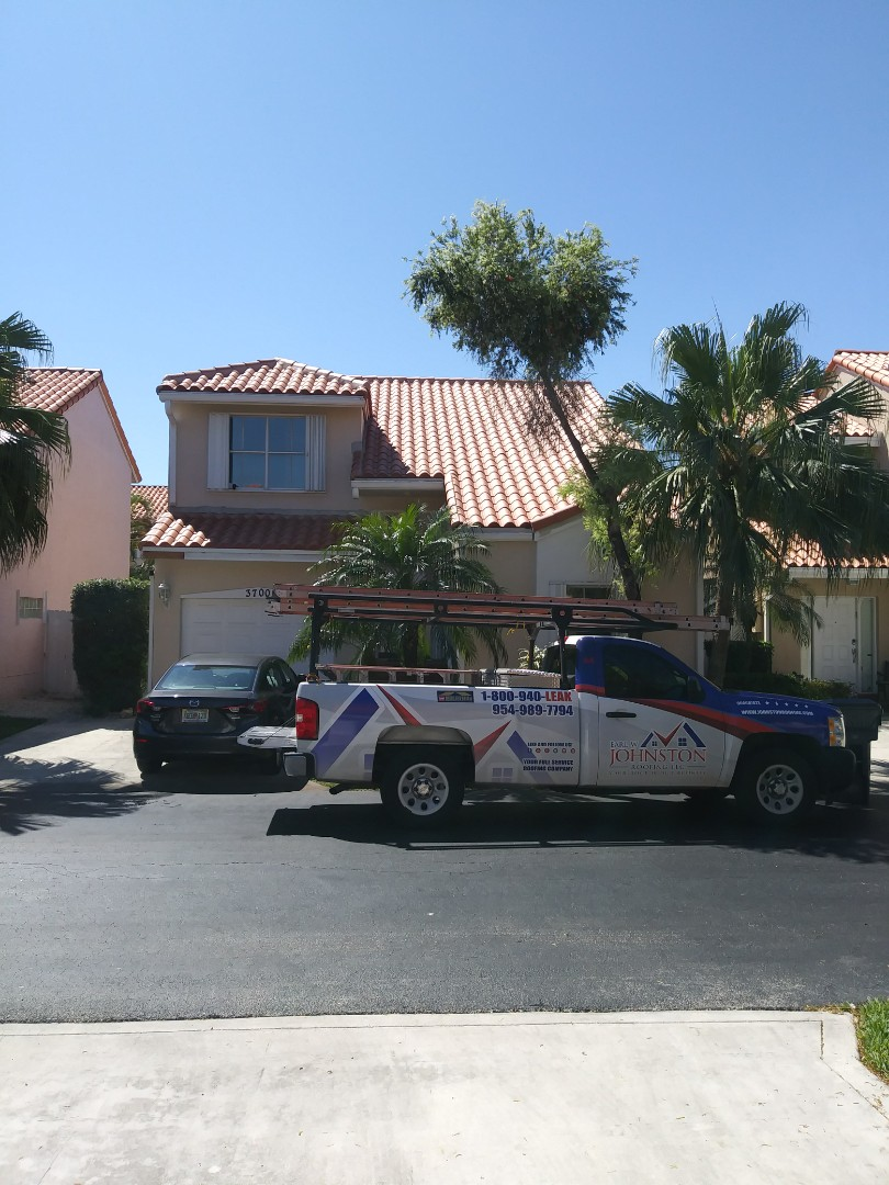 Hollywood, FL - Finished santafe spanish s. clay roof tile by earl w johnston roofing llc