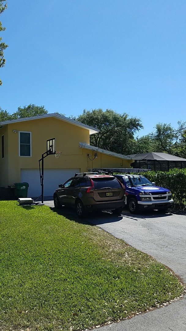 Pinecrest, FL - GAF mineral cap sheet flat roof replacement proposal  by AJ  from Earl Johnston Roofing