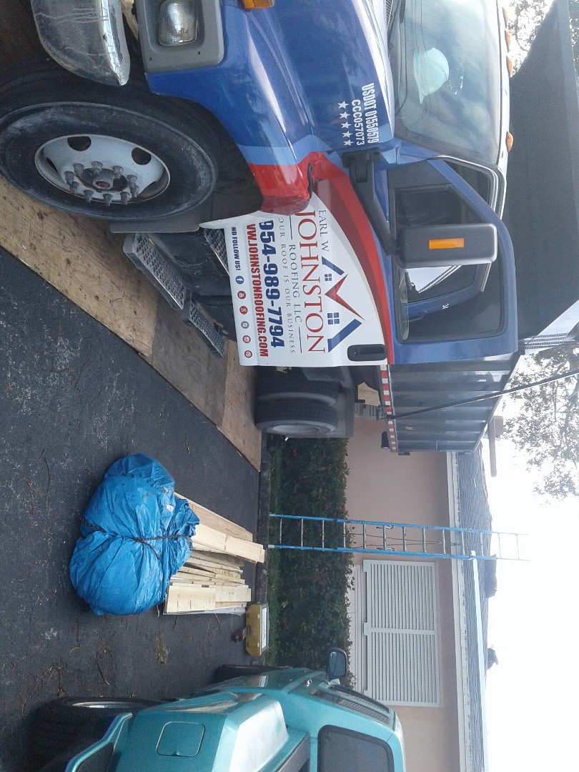 Starting a 31sq shingle reroof in Milton manors,by Earl w Johnston roofing.