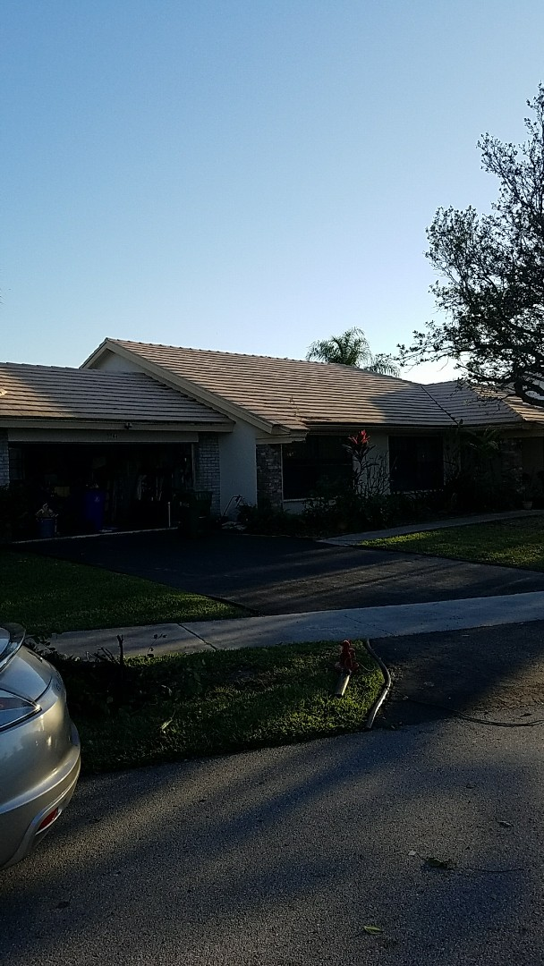 Margate, FL - Eagle Bel Air tiles reroof proposal by AJ from Earl Johnston Roofing