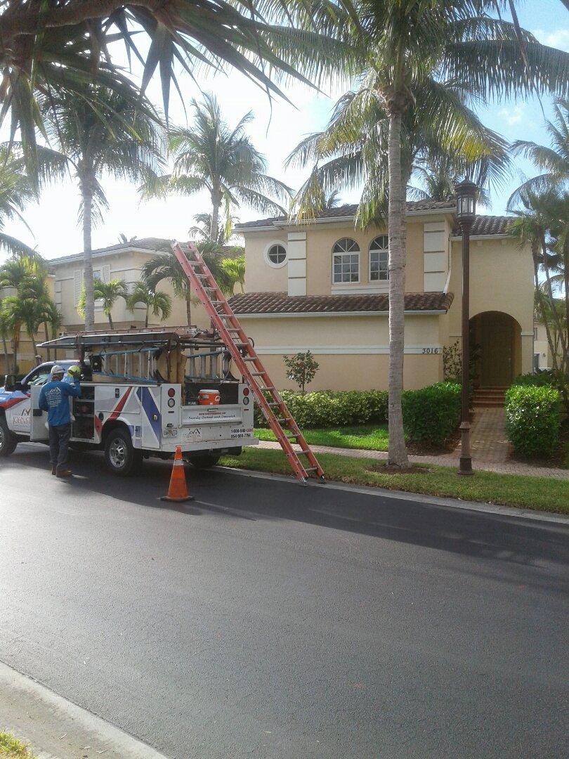 Aventura, FL - Tile roof repair in the City of Aventura Florida this repair is being done by Earl W Johnston company Tony and tavarres are your repair technicians