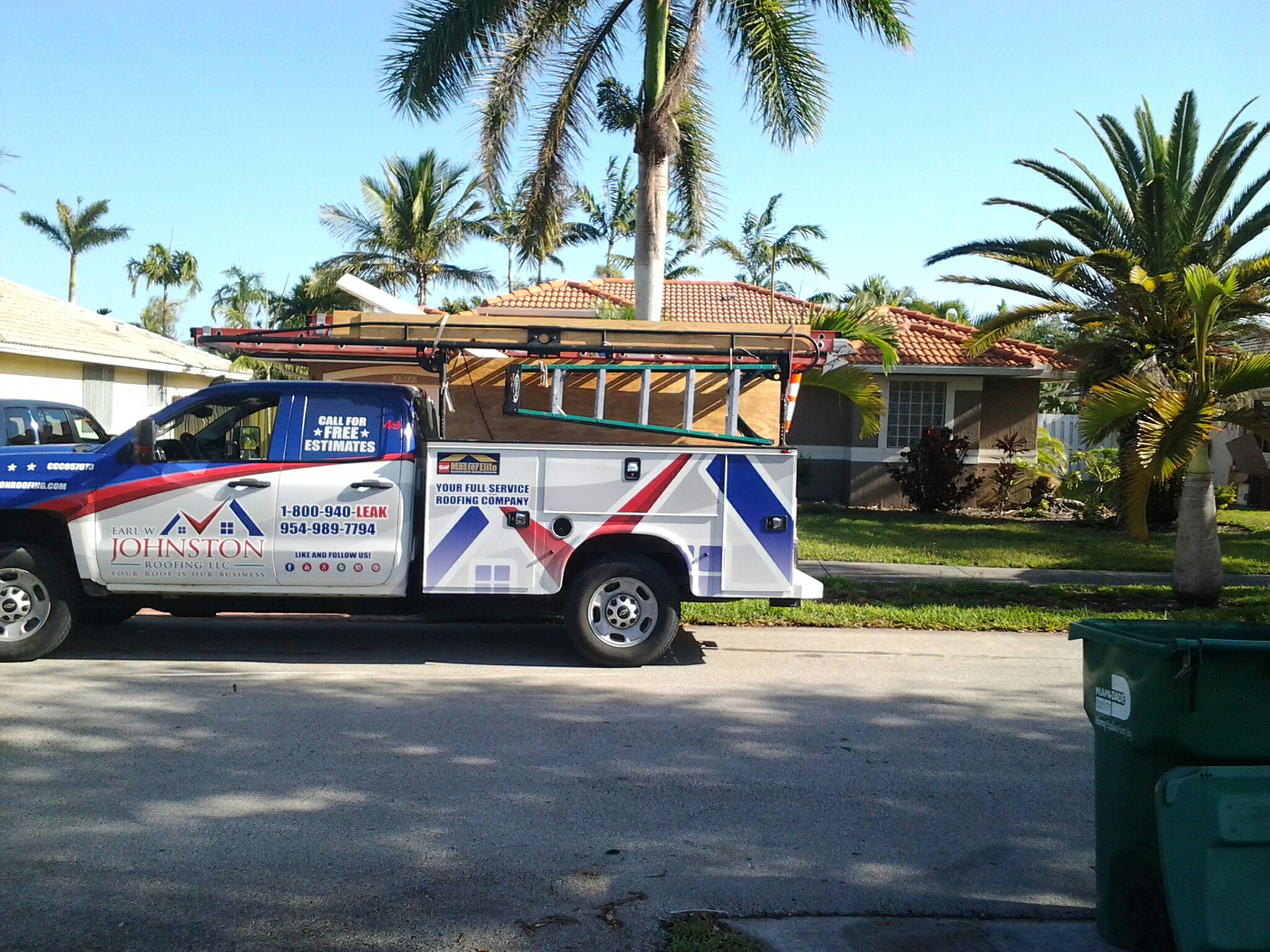 Hallandale Beach, FL - Tile roof repair in the city of miami fl this repair is being done by Earl w Johnston roofing company Jos? end Duane are you repair technicians