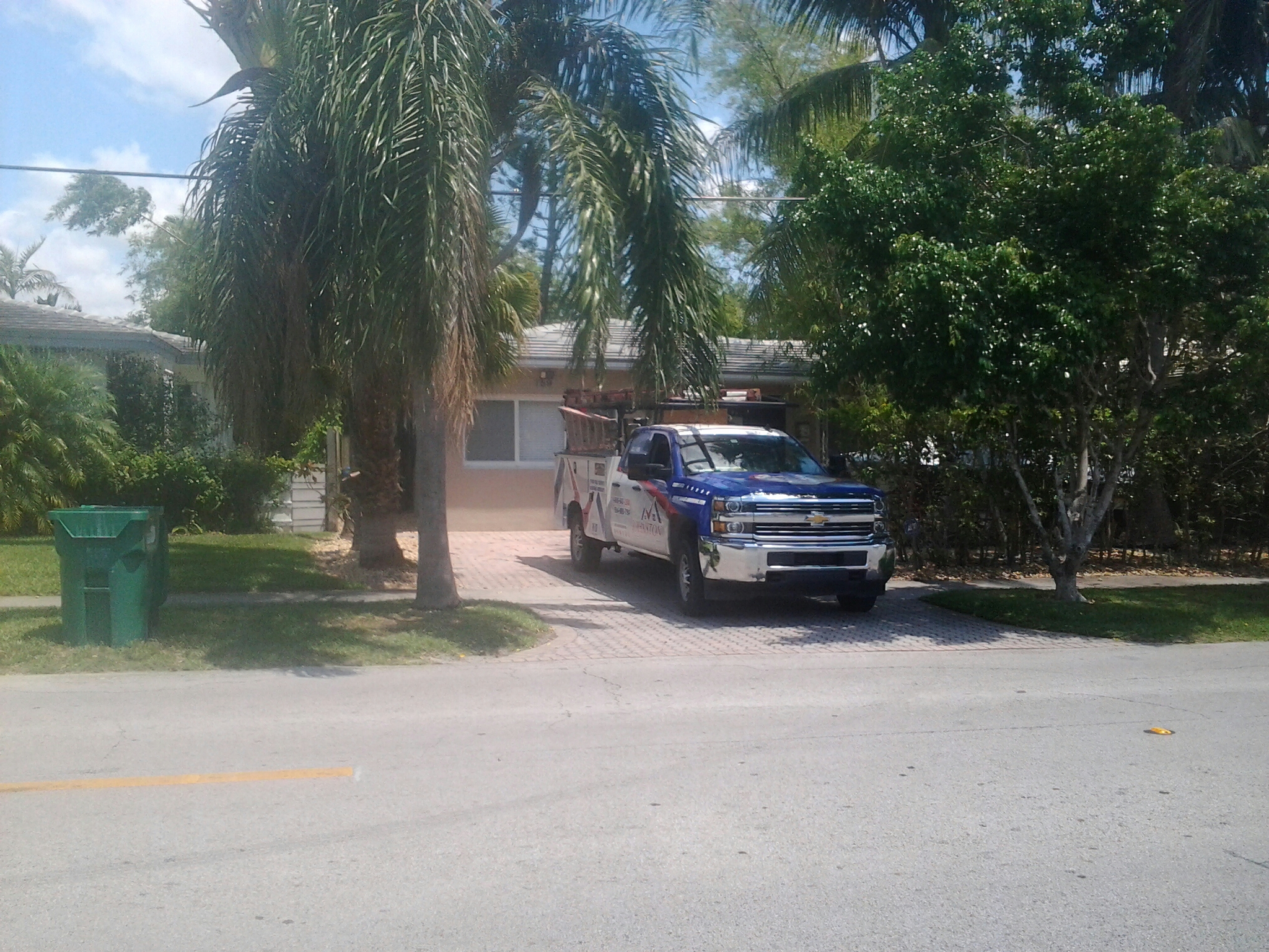Miami Shores, FL - Tile roof repair in the city of miami fl this repair is being done by Earl w Johnston roofing company Jos? end Duane are you repair technicians