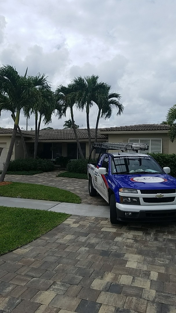 Hollywood, FL - GAF mineral cap sheet flat roof replacement by Earl Johnston Roofing Your Full Service Roofing Company