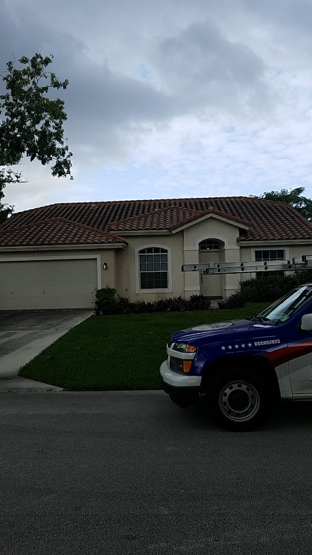 Lauderhill, FL - Tile roof repair estimate done by  Earl Johnston Roofing Your Full Service Roofing Company