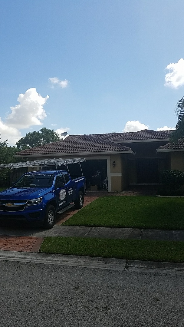 Coral Springs, FL - Tile roof repair estimate done by  Earl Johnston Roofing Your Full Service Roofing Company