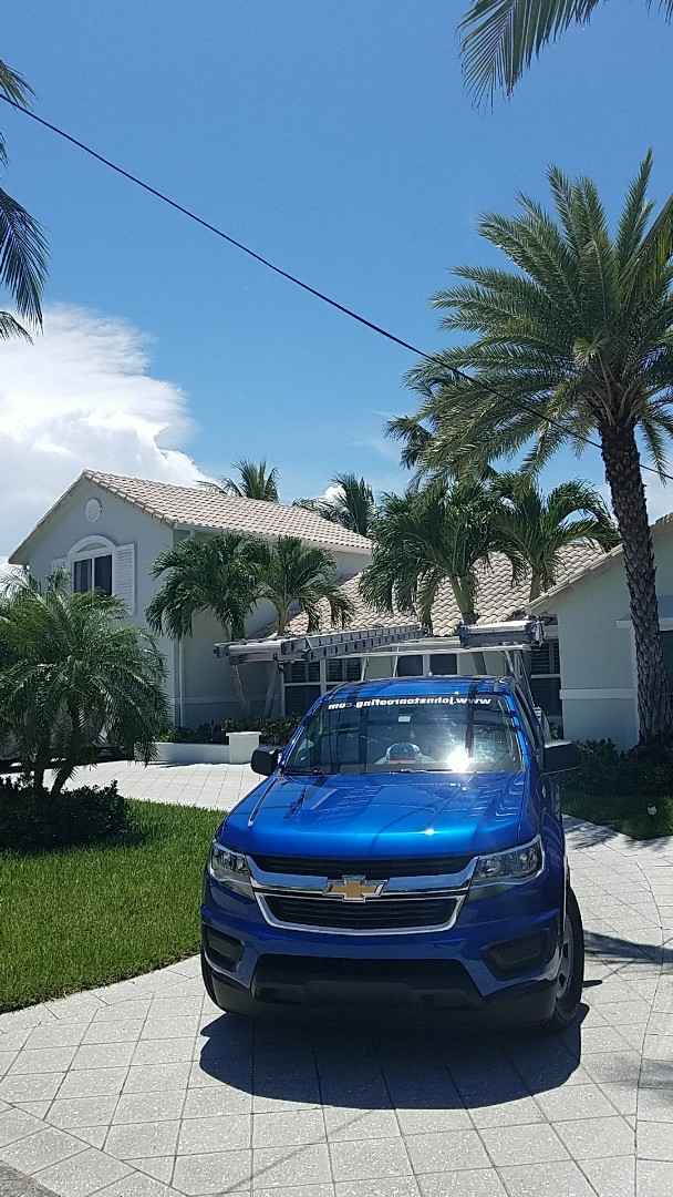 Lighthouse Point, FL - Tile roof Leak repair estimate done by  Earl Johnston Roofing Your Full Service Roofing Company