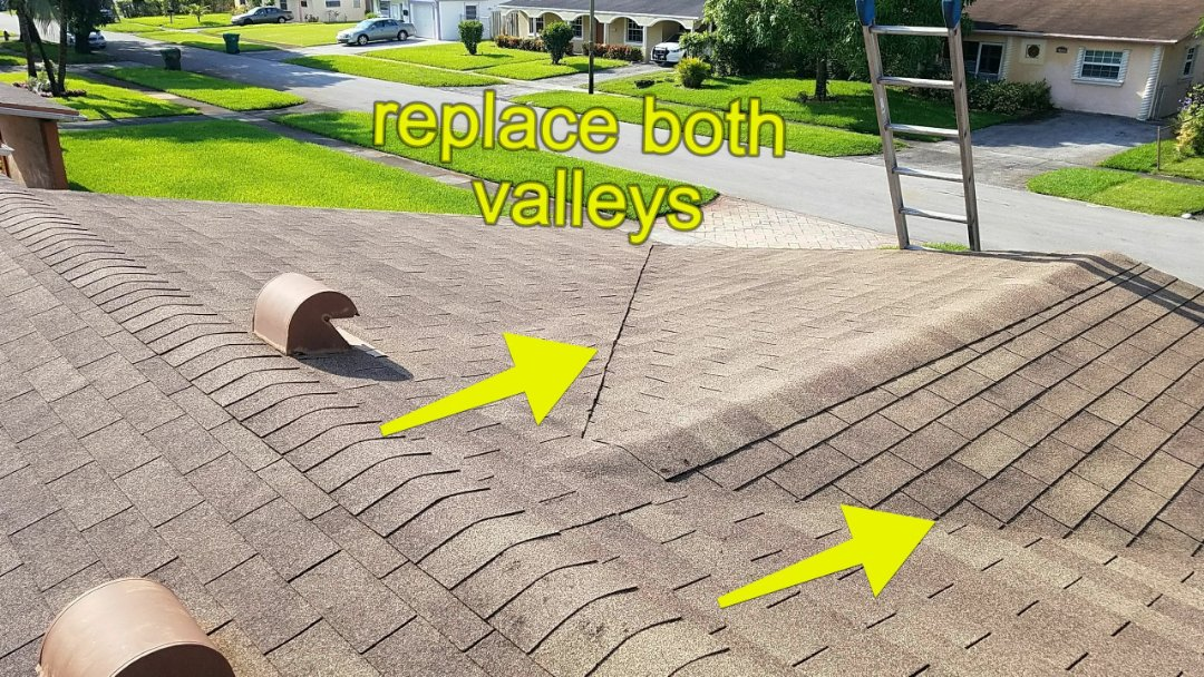 Lauderhill, FL - Shingle roof repair estimate in Lauderhill, FL