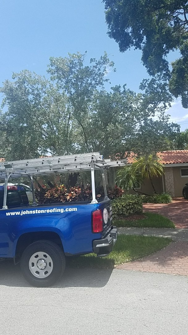 North Miami Beach, FL - Tile roof Leak repair estimate done by EARL JOHNSTON Roofing Company